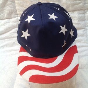 Red White and Blue Baseball Hat